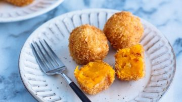 Watch-As-Jen-Makes-Japanese-Miso–and–Mushroom–Arancini–For-Pride
