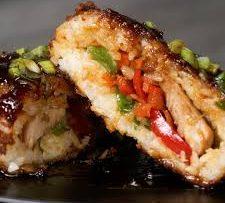 Crispy Chicken Teriyaki Rice Balls Recipe by Tasty