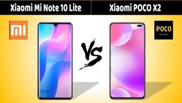 Xiaomi Mi Note 10 Lite vs Poco X2