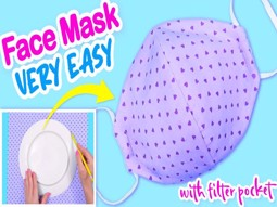 تهیه ماسک صورت بدون چرخ خیاطی در چند دقیقه