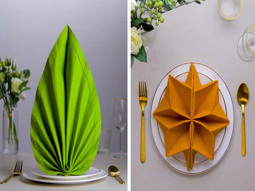Decorative-tricks-for-dinner-table-napkins