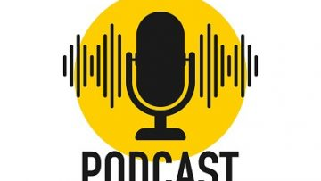 Podcast. Badge, icon stamp logo Vector stock illustration