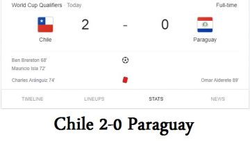 Chile 2-0 Paraguay